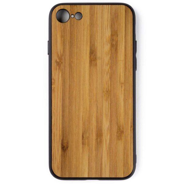 iphone 7 en 8 hoesje - bumper case - houten telefoonhoes