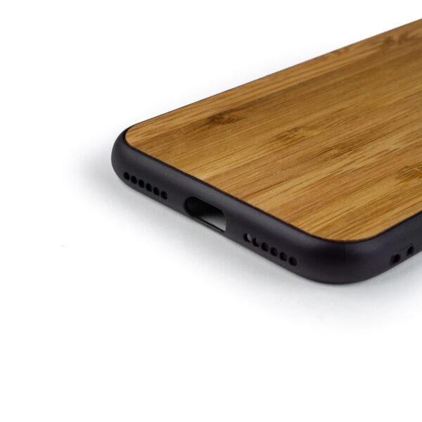 iphone XR hoesje - bumper case - houten telefoonhoes