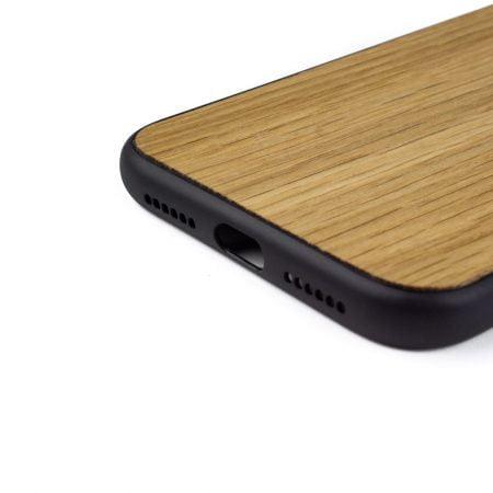 iphone XS hoesje - bumper case - houten telefoonhoes