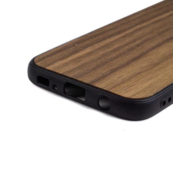 Samsung S7 Edge hoesje - bumper case - houten telefoonhoes