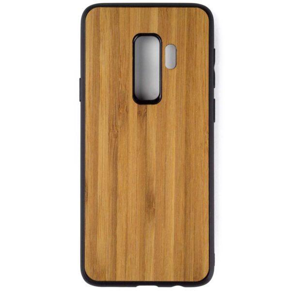 Samsung S9 PLUS hoesje - bumper case - houten telefoonhoes