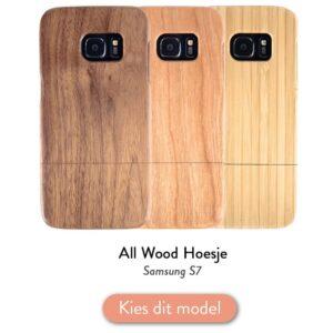 Samsung S7 houten hoesje