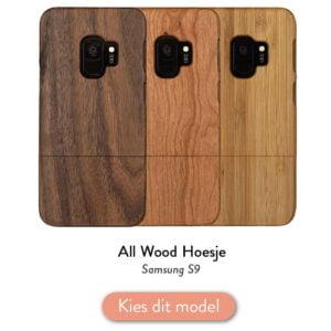 Samsung S9 houten hoesje