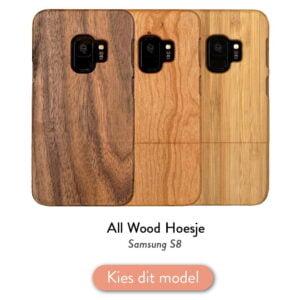 Samsung S8 houten case