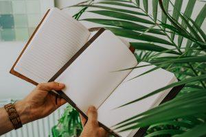 Leren notitieboekje - blanco en gelinieerd papier