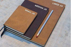 Leren notitieboekjes - verschillende formaten A4 A5 A6