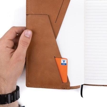 leren notitieboekje hervulbaar - navulling / vulling