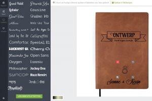 leren notitieboekje tool screenshot