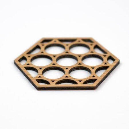 Geometrische houten onderzetters