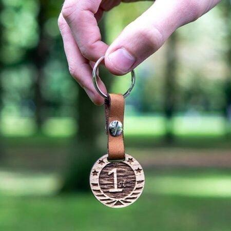 houten sleutelhanger met naam